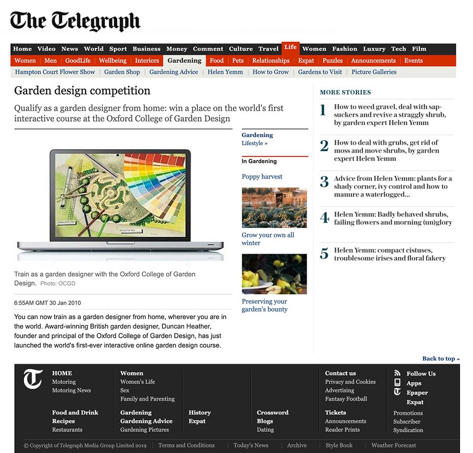 Competition Success Heidi Walther Garden Design